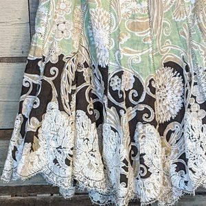 """Skirts - Fun Boho Vintage Patch and Lace Skirt 30"""" waist"""